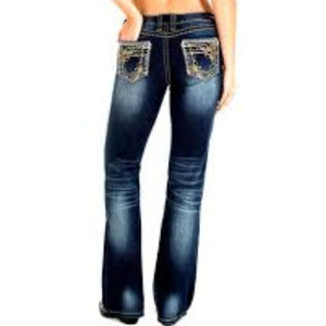 Wrangler Rok 47 24 X34 NWT Lowrise boot cut Jeans